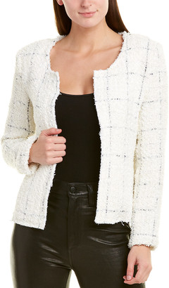 Lavender Brown Fuzzy Crop Jacket