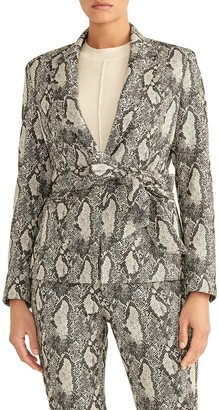 Rachel Roy Collection Snakeskin Tie Waist Blazer