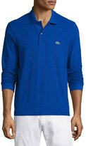 Lacoste Classic Long-Sleeve Piqué Polo Shirt, Steamship Blue