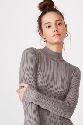 Supre Monica High Neck Long Sleeve Knit