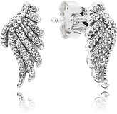 Pandora Earrings - Sterling Silver & Cubic Zirconia Majestic Feathers
