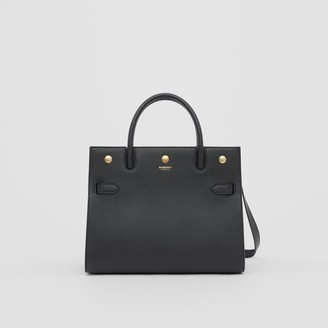Burberry Small Leather Two-handle Title Bag