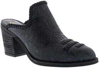 Sbicca Women's Mules BLACK - Black Floral-Embossed Tayshee Leather Mule - Women