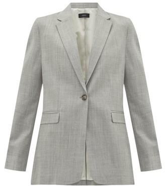 Joseph New Laurent Single-breasted Wool-blend Blazer - Womens - Grey