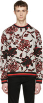 McQ by Alexander McQueen Grey Floral Pullover