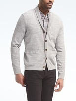 Banana Republic Cotton-Blend Shawl Cardigan