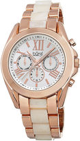 Burgi Womens Rose Gold-Tone Bracelet Watch