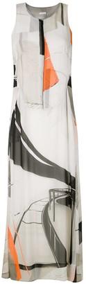 OSKLEN Abstract Print Midi Dress