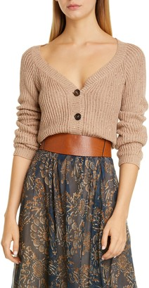 Brunello Cucinelli Sequin Cotton, Linen & Silk Cardigan