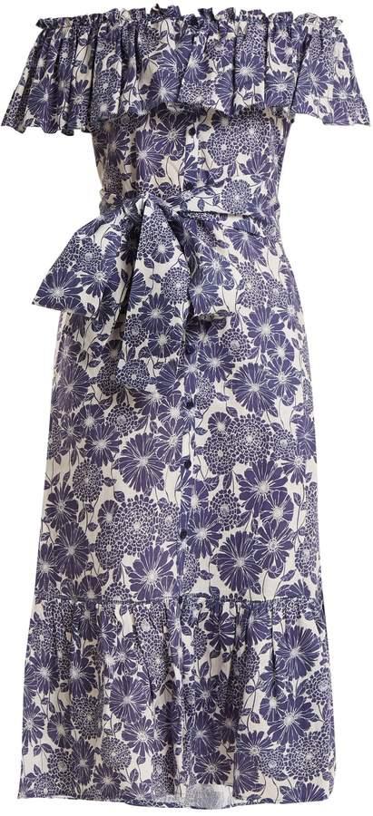 Lisa Marie Fernandez Mira floral-print cotton dress