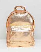 Mi-Pac Mini Metallic Backpack in Rose Gold