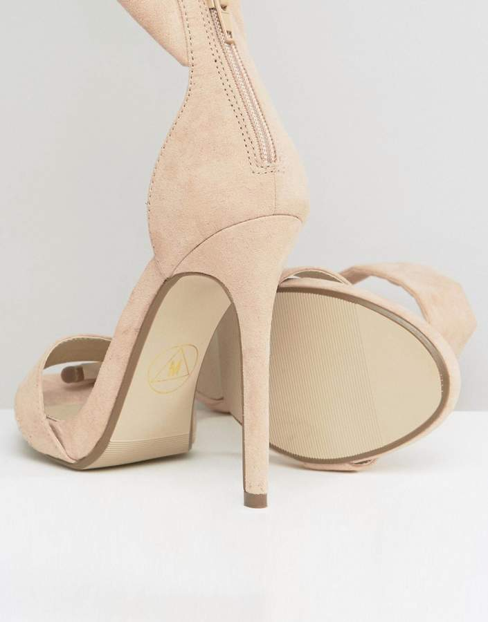 Missguided Barely There Tie Side Sandals