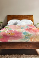 Popping Peonies Multi Fleece Duvet Cover by OBC