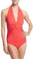 MICHAEL Michael Kors Bohemian Rhapsody Halter One-Piece Swimsuit