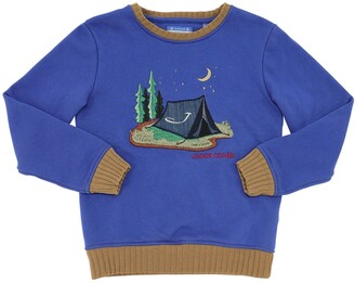 Jacob Cohen Camping Embroidered Cotton Sweatshirt