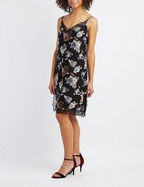 Charlotte Russe Floral Lace-Trim Slip Dress