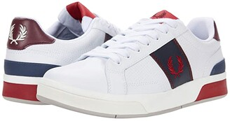 Fred Perry B200 Perf Leather (White) Men's Shoes