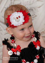 Etsy Minnie Mousse Baby Headband and Minnie Mouse Chunky Necklace SET. Baby Headbands, Girls Chunky Nekl