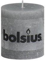 Rustic 103868020329 Pillar Candle, Paraffin Wax, Light Grey