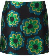 Suno embroidered flower mini skirt