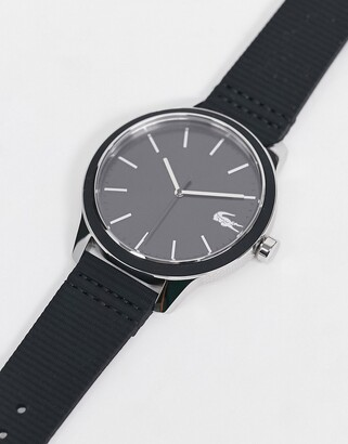 Lacoste 12.12 silicone watch in black 2011087