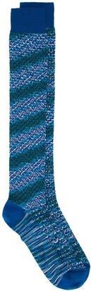 Missoni crochet-knit striped socks