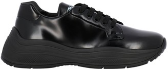 Prada Sneakers Barca Xl In Brushed Leather With Rubber Sole