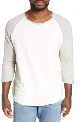 Rag & Bone Rigby Three Quarter Sleeve Slim Fit Baseball T-Shirt