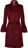 Roberto Cavalli Fluted Wool And Cashmere-Blend Felt Coat
