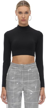 In The Mood For Love Long Sleeve Jersey Crop Top
