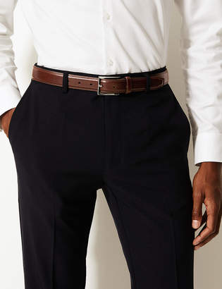 Marks and Spencer High Shine Leather Buckle Belt