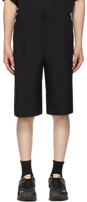 Gucci Black Silk Crepe Shorts