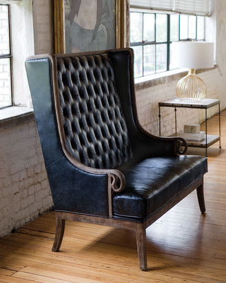 REGINA ANDREW Mobley Leather Tufted Settee