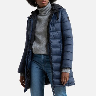 Pepe Jeans Long Hooded Puffer Jacket