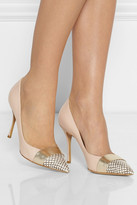 Nicholas Kirkwood Leather and elaphe pumps