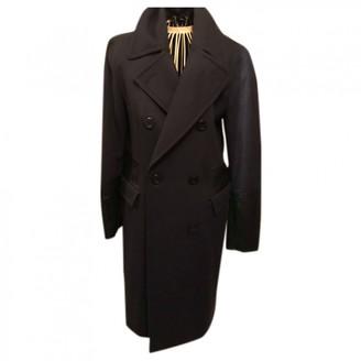 DKNY Navy Wool Coat for Women