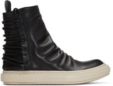 D.gnak By Kang.d Black Lace-up Back High-top Sneakers