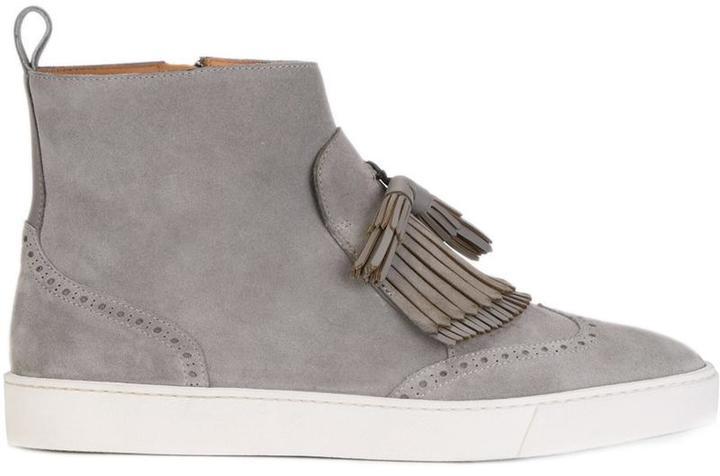 Santoni tassel detail ankle boots