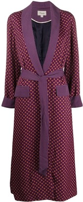 Temperley London Geometric Print Midi Coat
