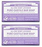 Dr. Bronner's Dr. Bronner's Pure-Castile Bar Soap – Lavender, 5oz. (2 Pack)