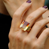 "Joan Hornig Empower"" Ombre Citrine Cocktail Ring"