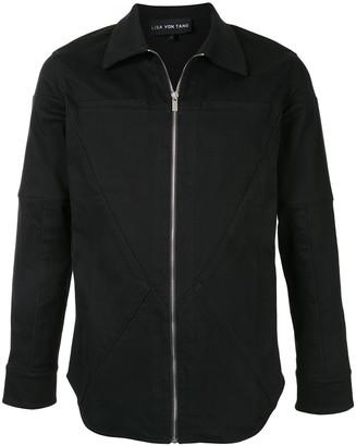 Lisa Von Tang Zip Front Shirt