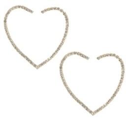 Ettika Open Your Heart Crystal Hoop Earrings