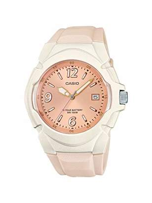 Casio Women's Sporty Stainless Steel Quartz Watch with Resin Strap