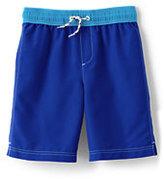 Classic Little Boys Slim Solid Swim Trunks-Vivid Cobalt