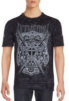 Affliction Lion Seal Graphic Print Cotton Tee
