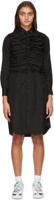 Comme des Garcons Black Ruched Shirt Dress