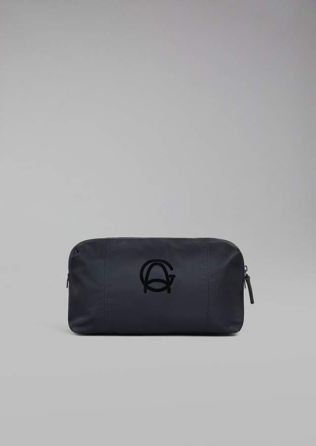 Giorgio Armani Wash Bag With Zip And Embroidered Logo