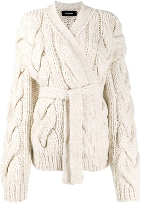 DSQUARED2 Chunky Cable Knit Cardigan