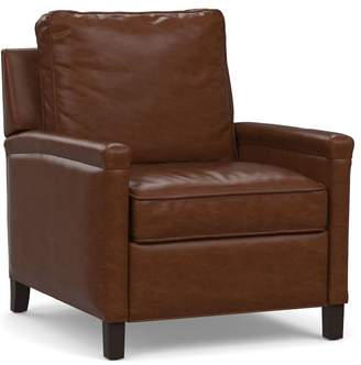Pottery Barn Tyler Leather Square Arm Recliner
